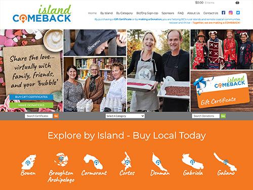 Island Comeback Homepage